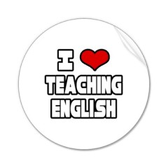 I love teaching english